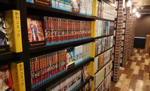 漫画・雑誌・映画の種類が豊富