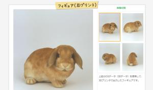 3Dペットショップでウサギをフィギュア制作